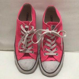 Pink all star converse men 6 women size 8